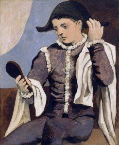 Arlequí amb mirall - Pablo Picasso